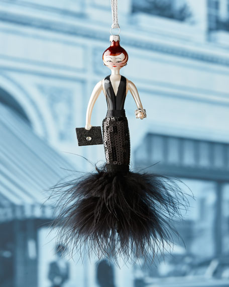 De Carlini Blair Black Gown Ornament
