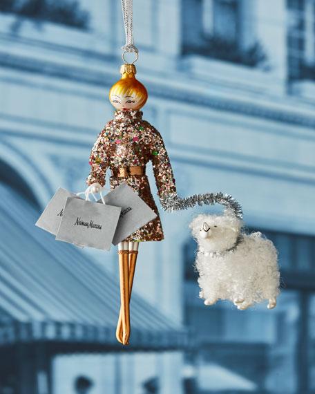 De Carlini NM Shopper Lady Ornament