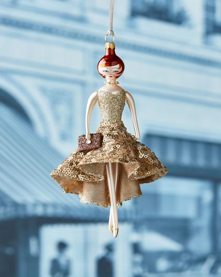 De Carlini Samantha Gold Dress Ornament