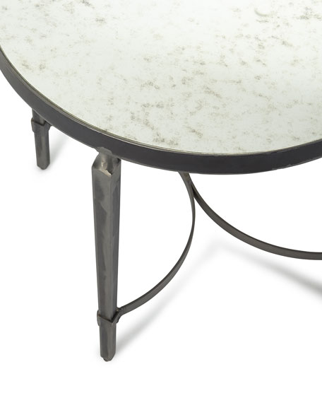 Sahara Antiqued Mirror End Table