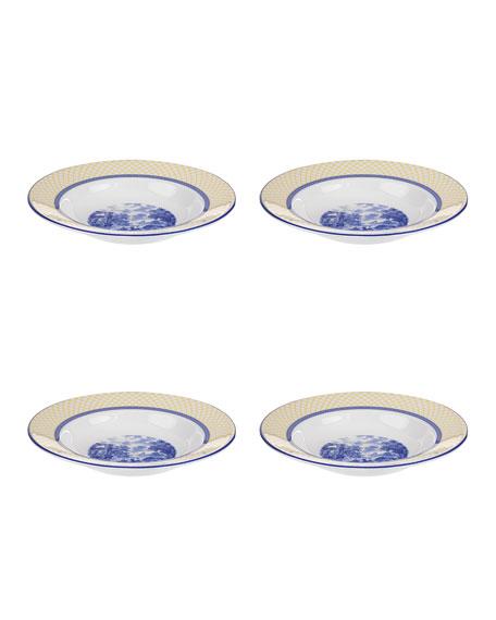 Giallo Rim Soup Plates, Set of 4