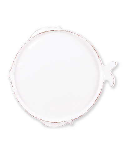 Melamine Lastra Fish Dinner Plate  White