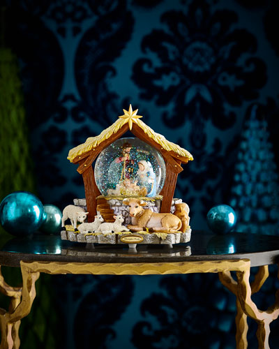 Asleep In the Manger Snow Globe