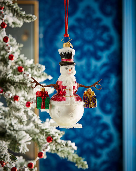 Frosty Bearing Gifts Ornament