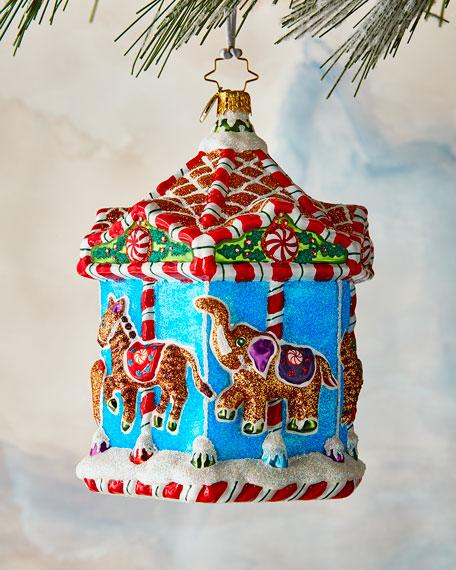 Gingerbread Menagerie Carousel Ornament