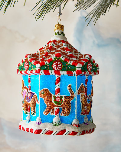 Gingerbread Menagerie Carousel Ornament