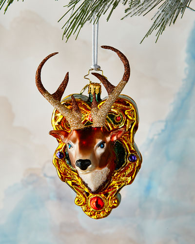 A Buck for Christmas Ornament