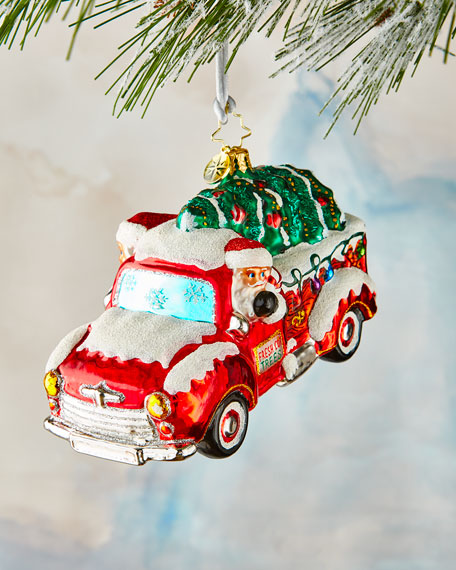 Christopher Radko Christmas Tree Delivery Ornament