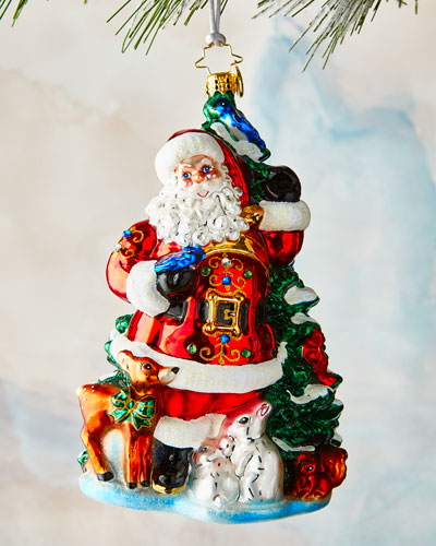 Santa's Menagerie of Friends Ornament