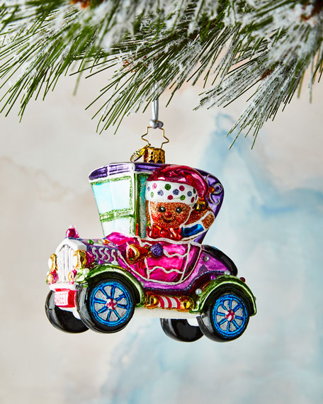 Christopher Radko Spiffy Racer Ornament