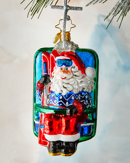 Christopher Radko Riding Up Snowy Mountain Ornament