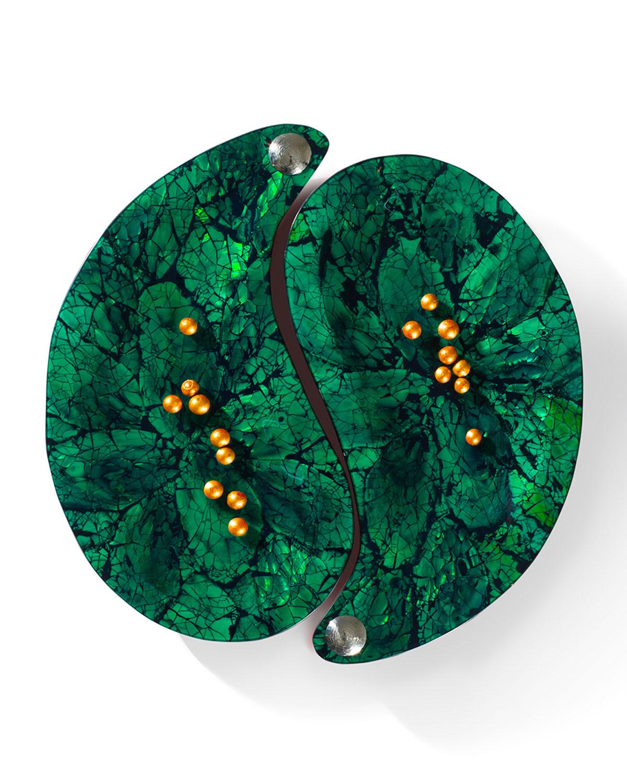 Ladoradayin Yang Platter Set Green