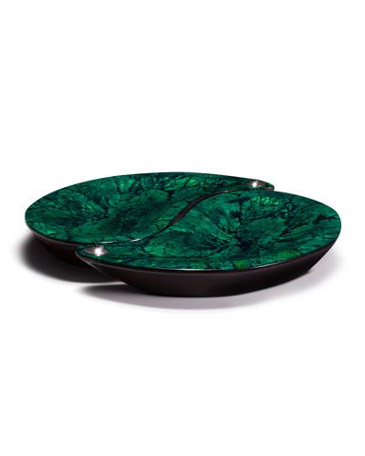 Yin-Yang Platter Set  Green