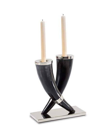 Bull Horn Candleholders