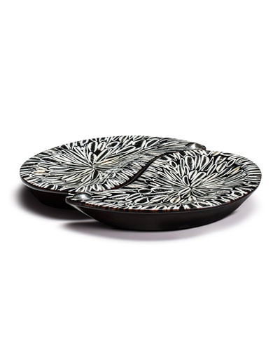Yin-Yang Platter Set  Black