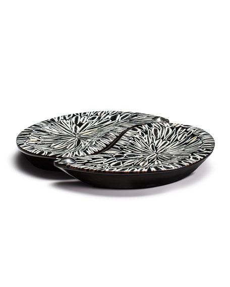 Yin-Yang Platter Set, Black