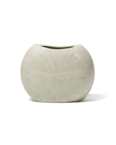 Light Almendro Symmetry Bone Vase