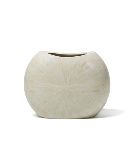 Light Almendro Symmetry Bone Vase
