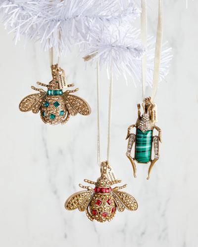 Jeweled Bug Ornaments