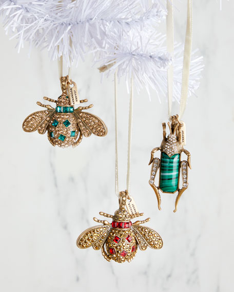 Jeweled Bug Ornaments