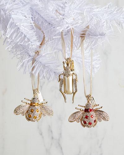Jeweled Bug Hanging Ornaments