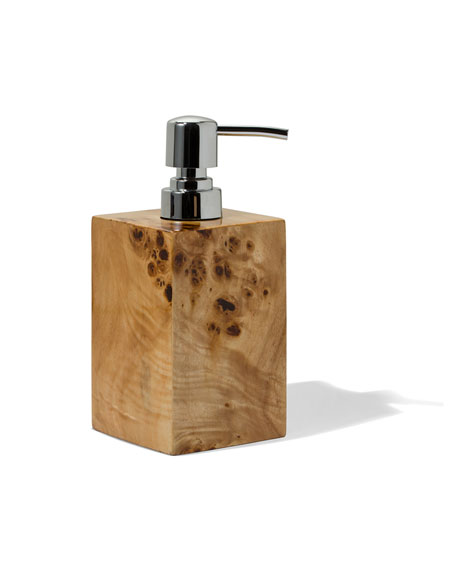 Burl Veneer Soap Dispenser
