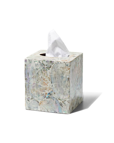 LADORADA Mother-of-Pearl Tissue Box Cover