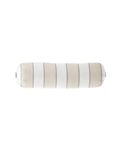 Preston Stripe Neck Roll Pillow with Button Ends