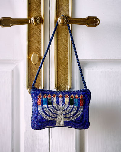 Beaded Menorah Doorknocker