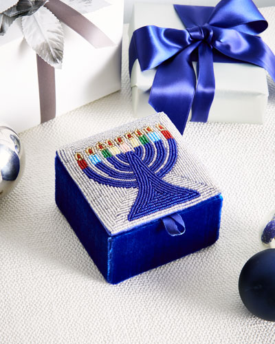 Beaded Menorah Box
