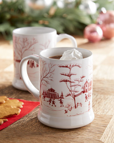Country Estate Winter Frolic Mugs  Set of 2