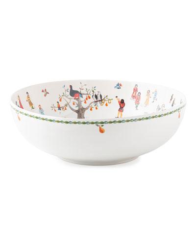 Twelve Days of Christmas Serving Bowl