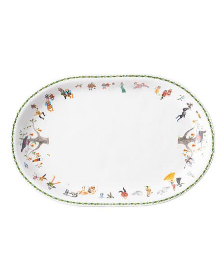 Twelve Days of Christmas Oval Platter