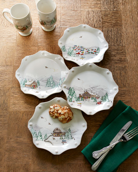 Juliska Berry Amp Thread North Pole Scalloped Dessert Plates
