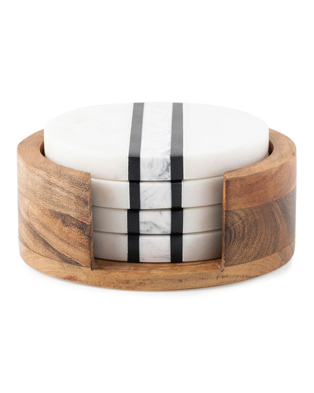 Stonewood Stripe Coasters, Set of 4