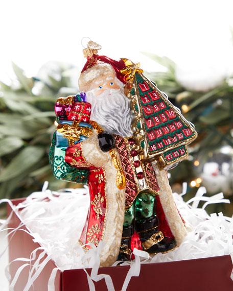 John Huras Advent Calendar Santa Christmas Ornament