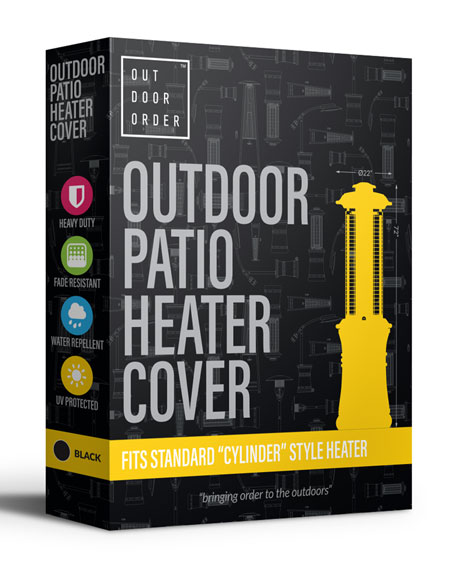 Outdoor Order Axis Patio Heater Cover, Black