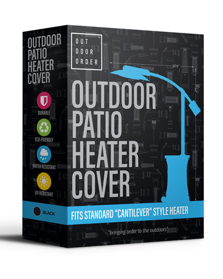 Curve Patio Heater Cover, Black