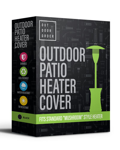 Halo Patio Heater Cover  Black
