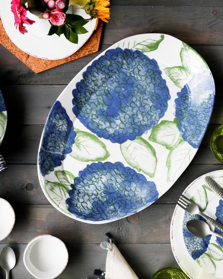 Melamine Hydrangea Oval Platter