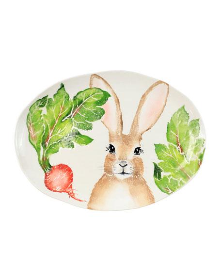 Spring Vegetables Medium Oval Platter
