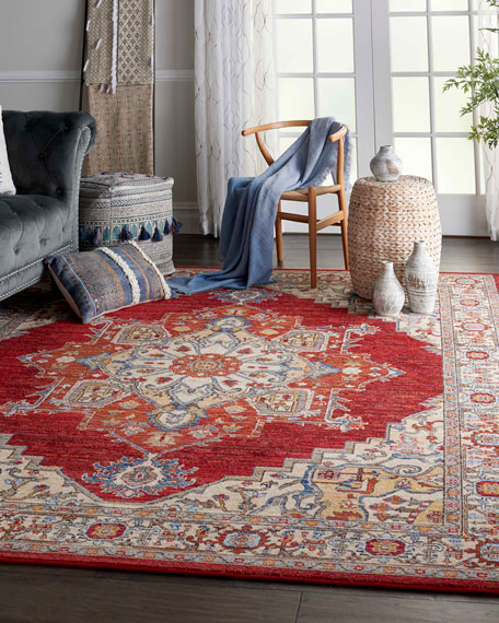 NourCouture Oriel Loom-Woven Rug, 9'6