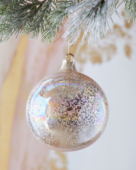 120mm Pearl Glass Ball Christmas Ornament