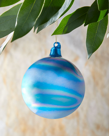 100mm Murano Iridescent Glass Christmas Ornament