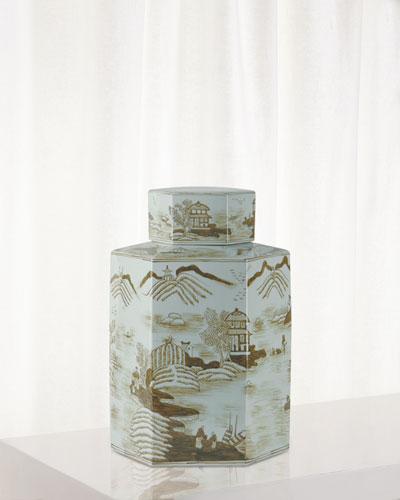 Canton Large Jar  Brown