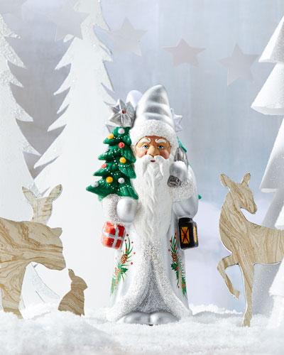 Silver Santa Statue