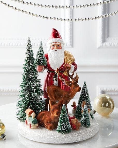 Santa and Deer Holiday Decor