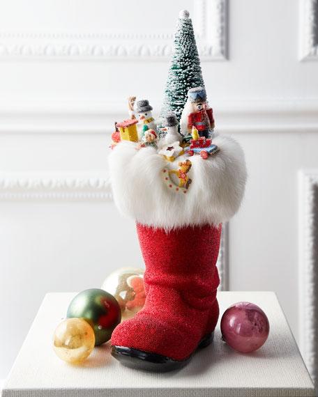 Ino Schaller Santa Boot with Toys Collectible