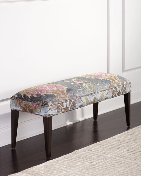 Haute House Hermione Damask Bench, 42.5