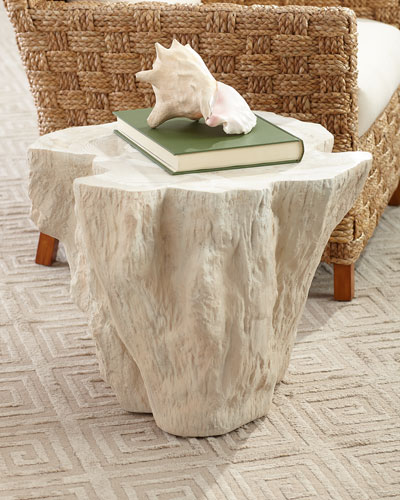 Ursula Fossilized Clam Side Table